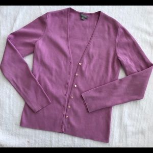 ANN TAYLOR Women Cardigan Sweater P XS Orchid Pink